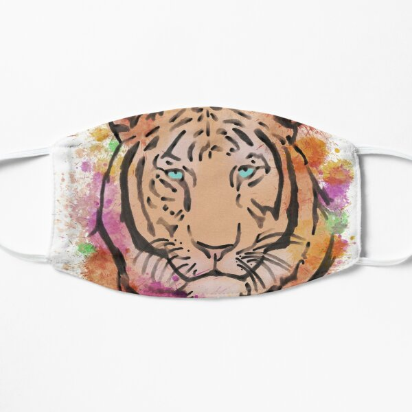 Watercolour Colourful Tiger  Mask