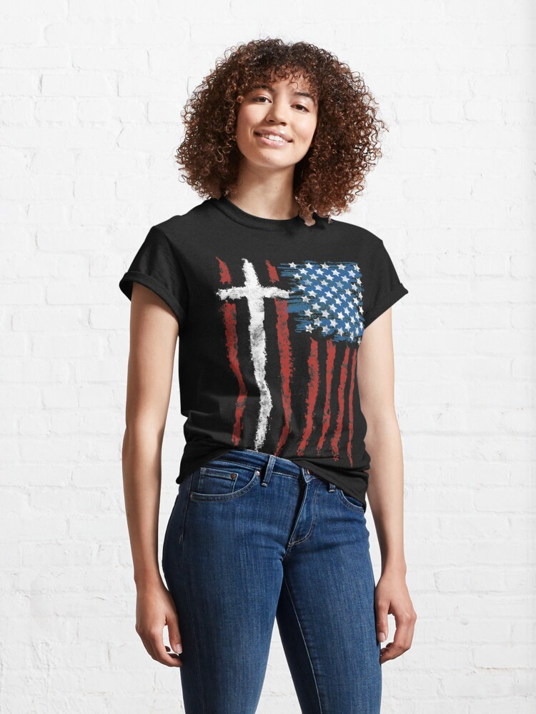 Alternate view of Patriotic Believer Classic T-Shirt