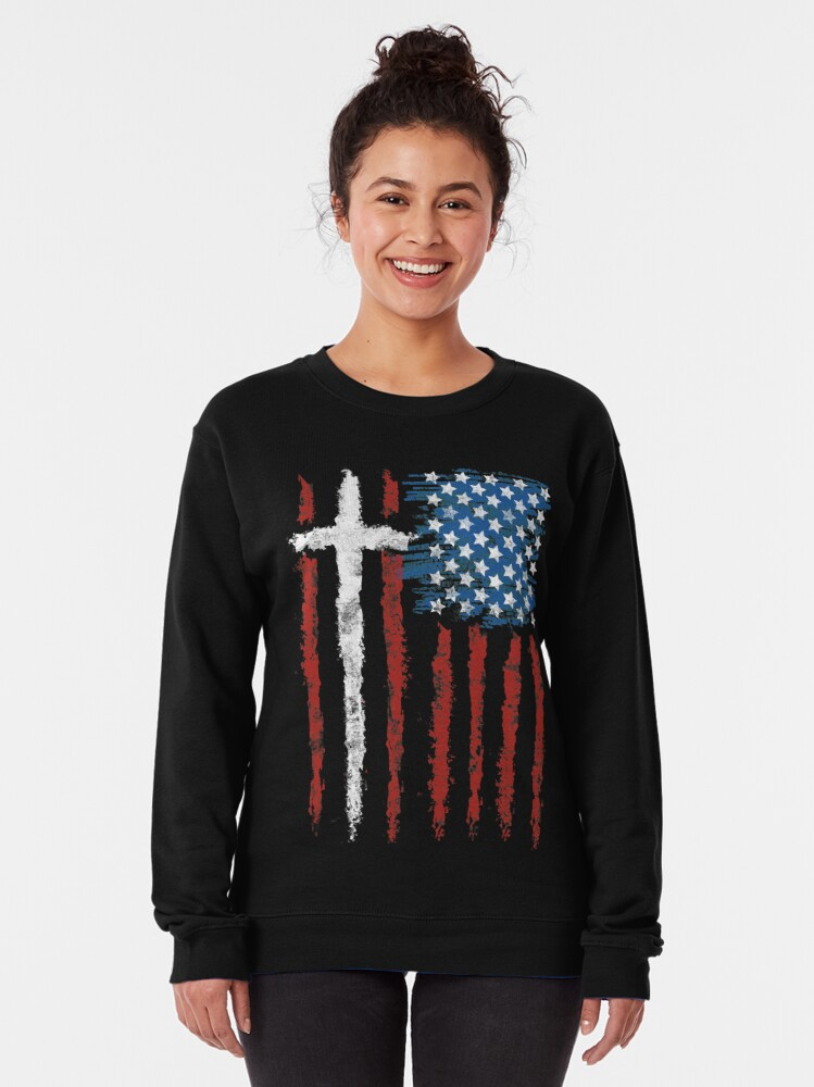 Alternate view of Patriotic Believer Pullover Sweatshirt