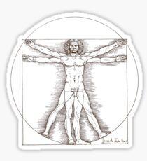 Vitruvian man by Leonardo Da Vinci  Sticker