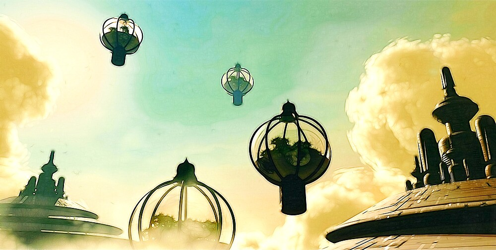 The Flight Across the Three Universes #8 - The Floating Gardens of Balresha 9 // Remembrances by Benedikt Amrhein