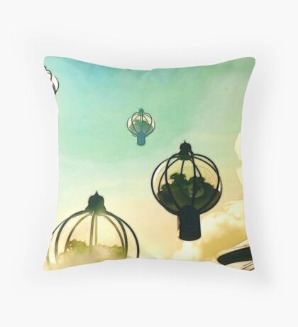 The Flight Across the Three Universes #8 - The Floating Gardens of Balresha 9 // Remembrances Throw Pillow