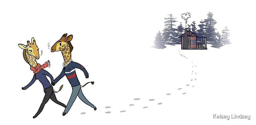 Cozy Cabin: Giraffe Edition by Kelsey Lindsey