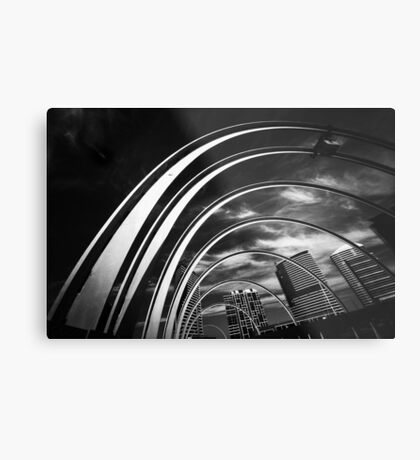 Arches and Highrise Metal Print