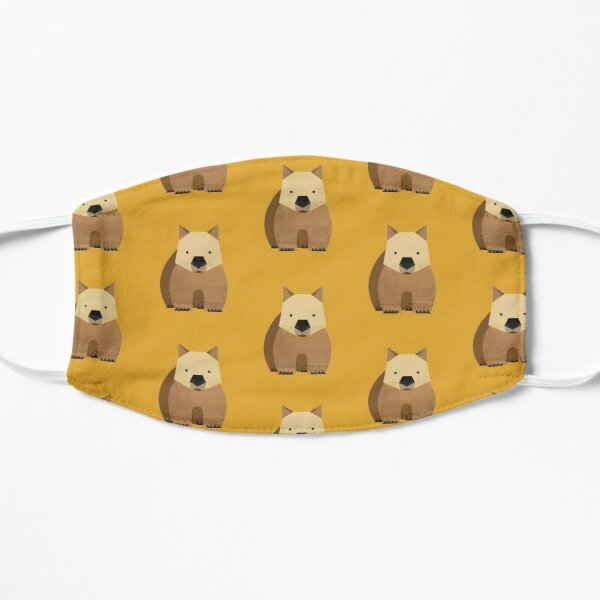 Whimsy Wombat Flat Mask