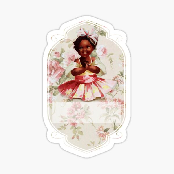 African American Girl Sticker
