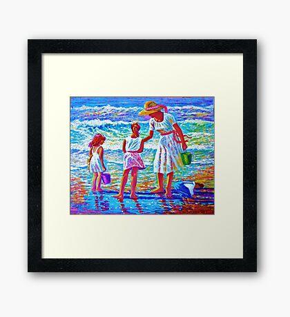 Sunday  Morning at the Beach Framed Print