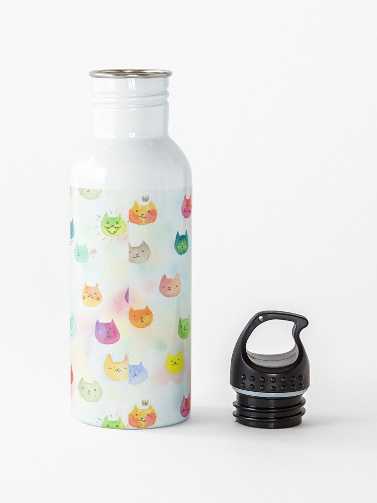 Alternate view of Cat confetti Water Bottle