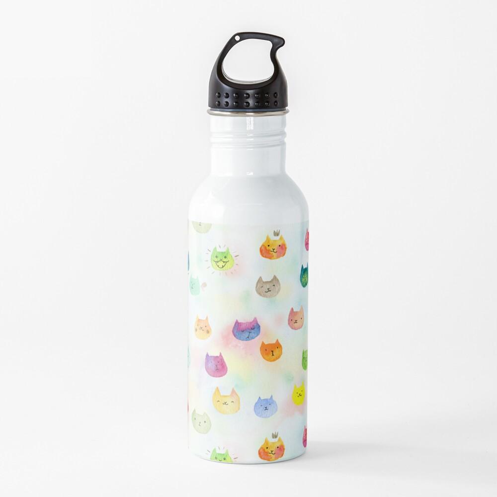 Cat confetti Water Bottle