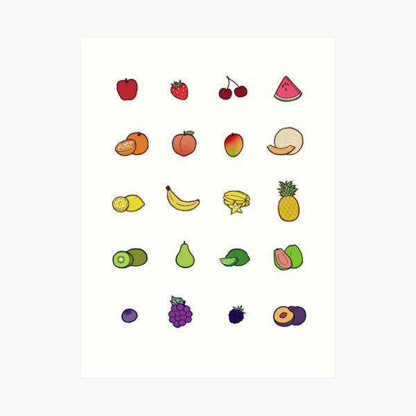 Set de frutas Lámina artística