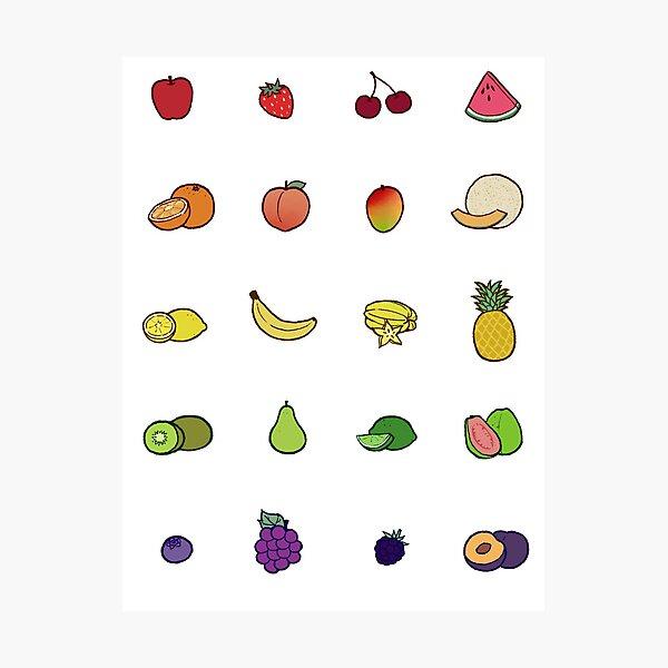Fruit Set Photographic Print