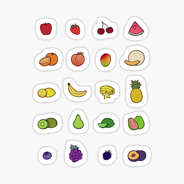 Fruit Set Sticker