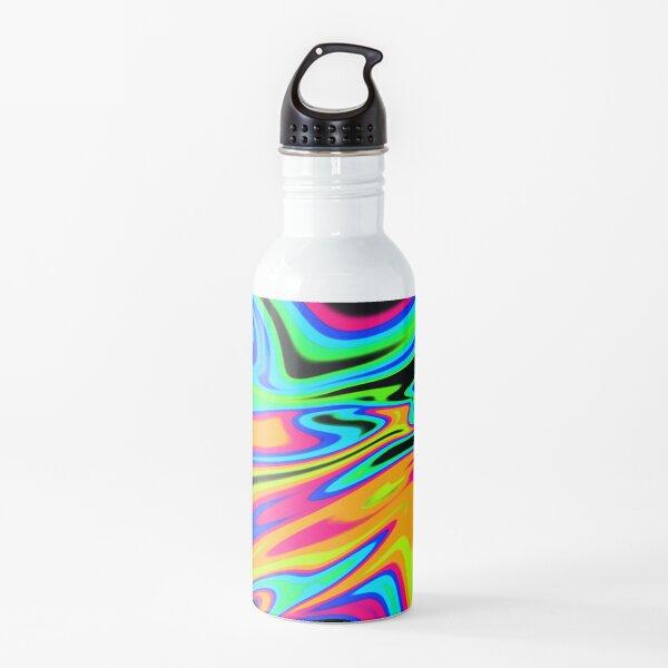Neon Dream Waves Water Bottle