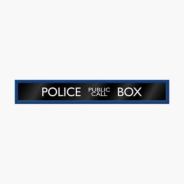 Police Box Photographic Print
