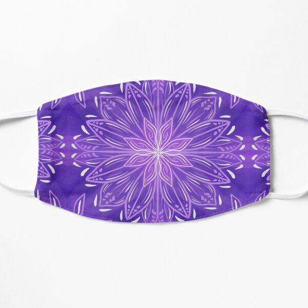 Purple Abstract stars Mandala pattern Mask