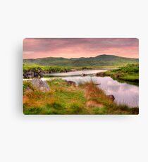 Green Hills of Ireland - The Connemara, Co. Galway, Ireland Canvas Print