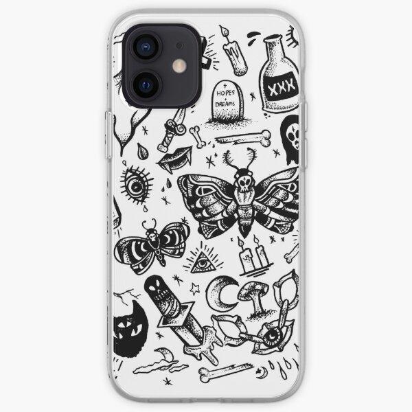 SPOOKY TATTOO FLASH SHEET iPhone Soft Case