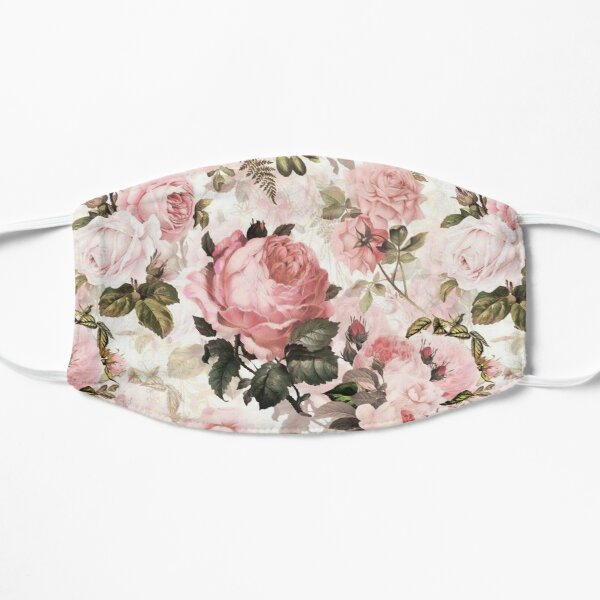 Pink Roses Flat Mask