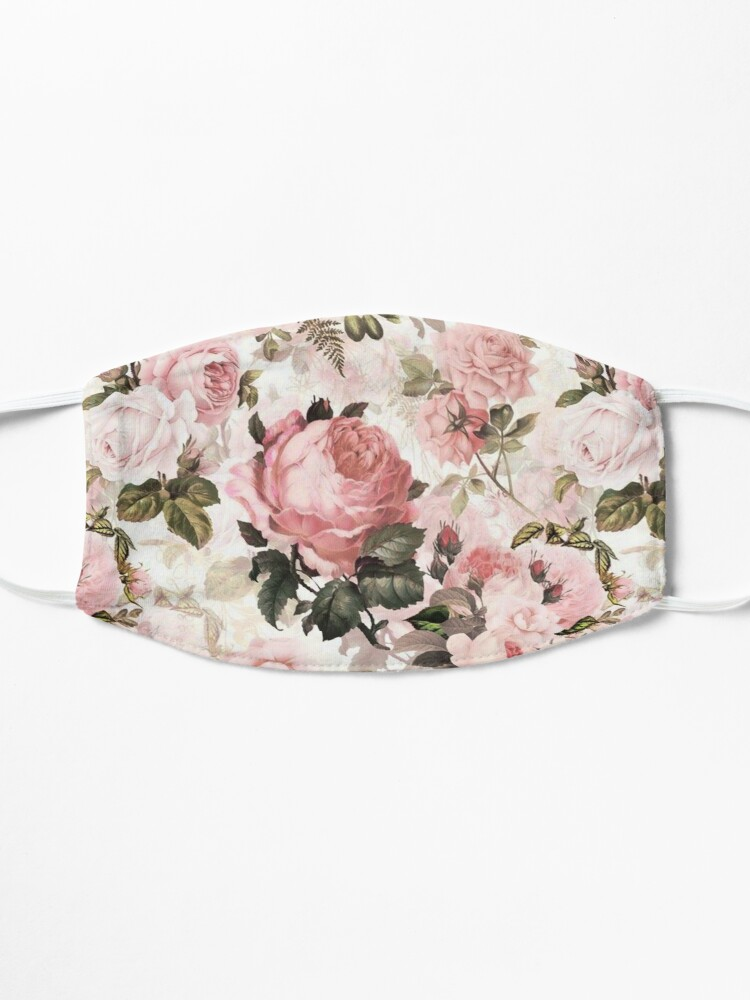 Alternate view of Pink Roses Mask