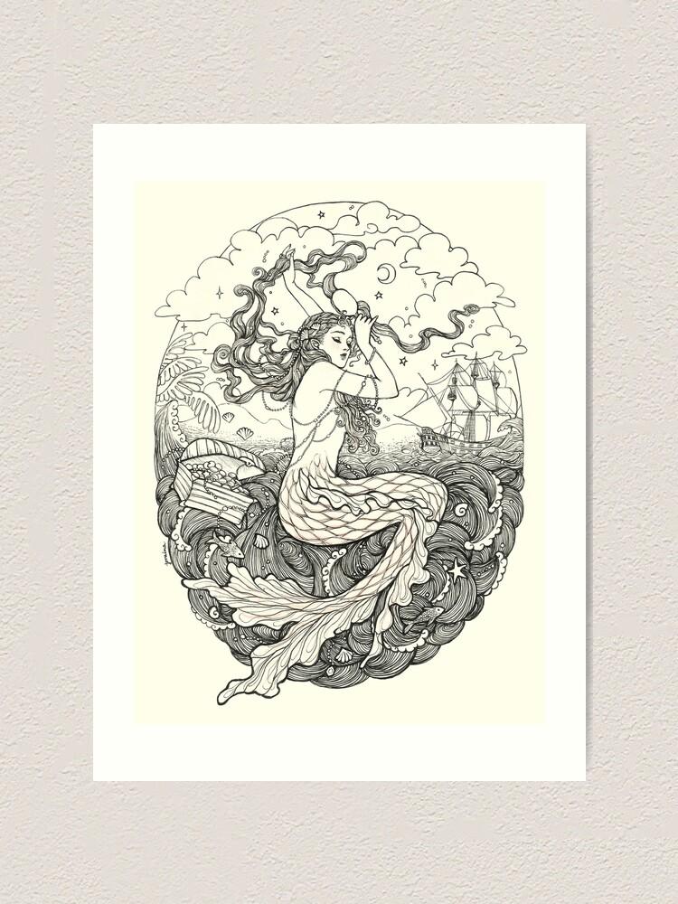 Alternate view of Mermaid Art Print