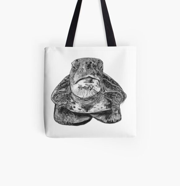 Cliff the Turtle All Over Print Tote Bag