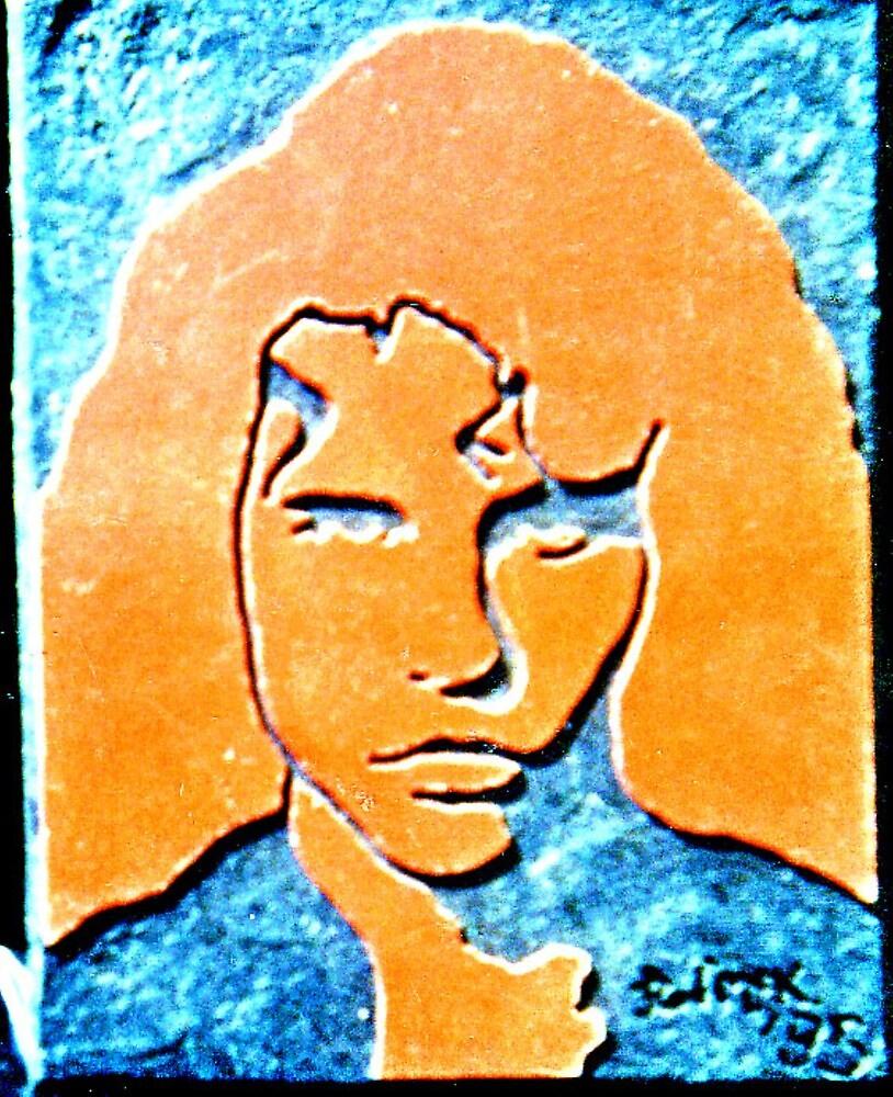 Orange and Black Jimmy by rod mckenzie