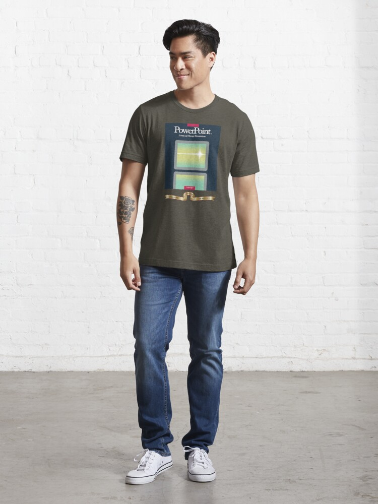 Alternate view of PowerPoint 1.0 for Macintosh, 1987 (25th Anniversary Re-Issue) Essential T-Shirt