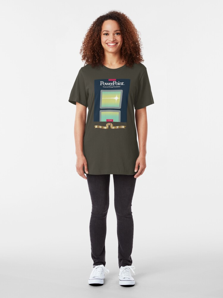 Alternate view of PowerPoint 1.0 for Macintosh, 1987 (25th Anniversary Re-Issue) Slim Fit T-Shirt