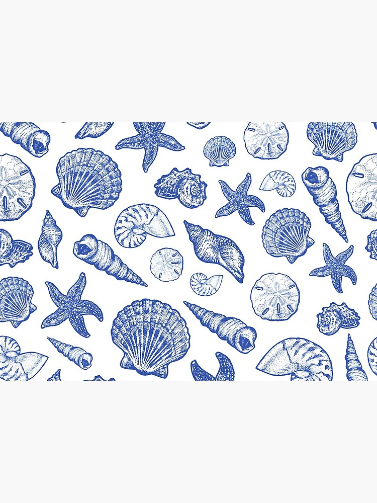 Blue Seashell Print by Eweglein