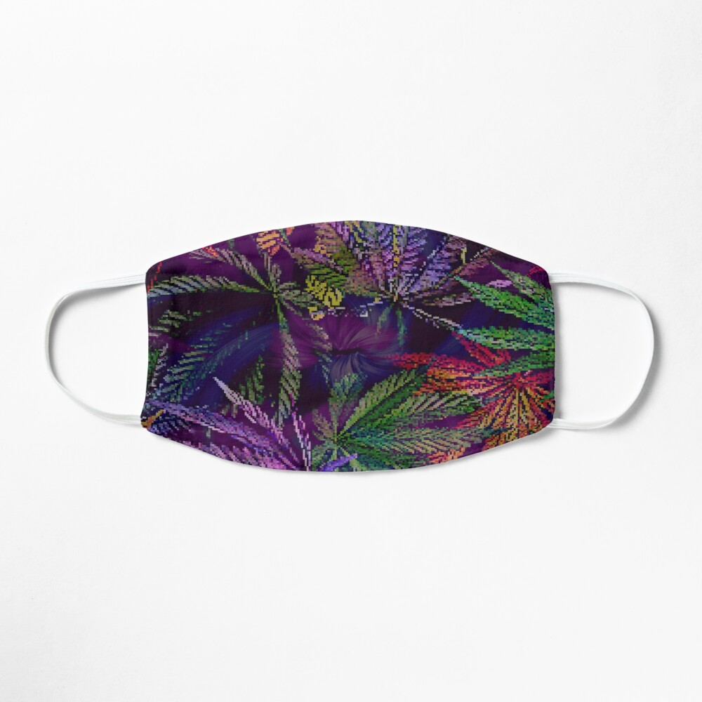 Psychedelic Marijuana Cannabis Leaves Mask