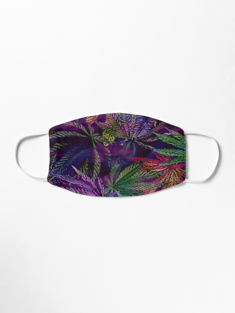 Alternate view of Psychedelic Marijuana Cannabis Leaves Mask