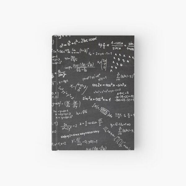 Blackboard With Math Formulars Hardcover Journal