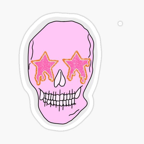 GLITTER STAR SKULL Sticker