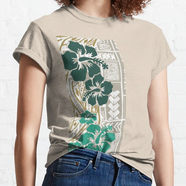 Hawaiian - Samoan - Polynesian Tropical Floral Print Classic T-Shirt