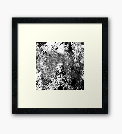Symphony in White and Black Framed Print