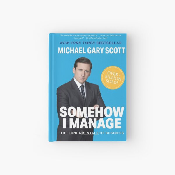 The Office: Somehow I Manage by Michael Scott (Light Blue) Hardcover Journal
