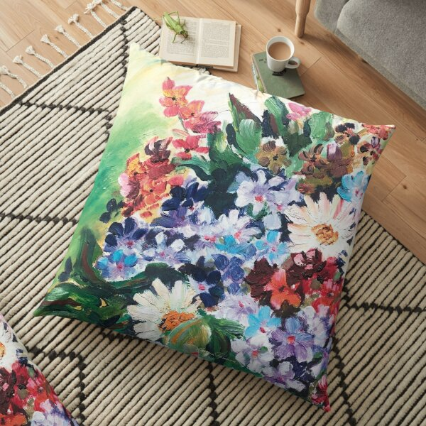 Flowers from my youth Floor Pillow