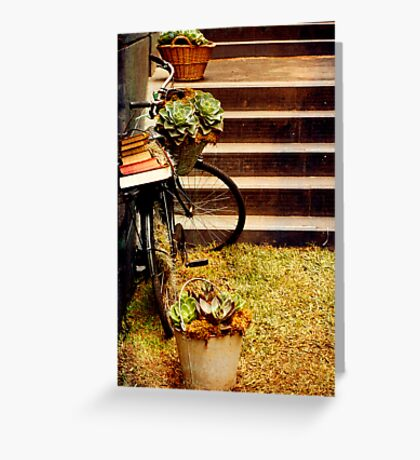 The succulent bike Greeting Card