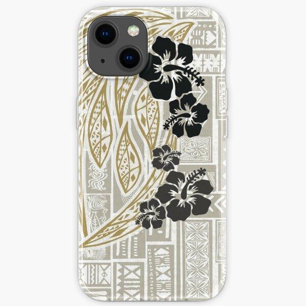 Hawaiian - Samoan - Polynesian Tropical Floral Print iPhone Soft Case