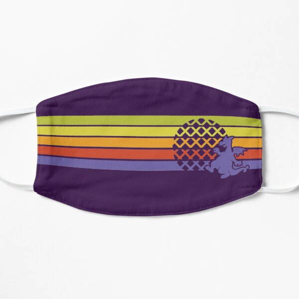 Retro Dragon Stripes Flat Mask