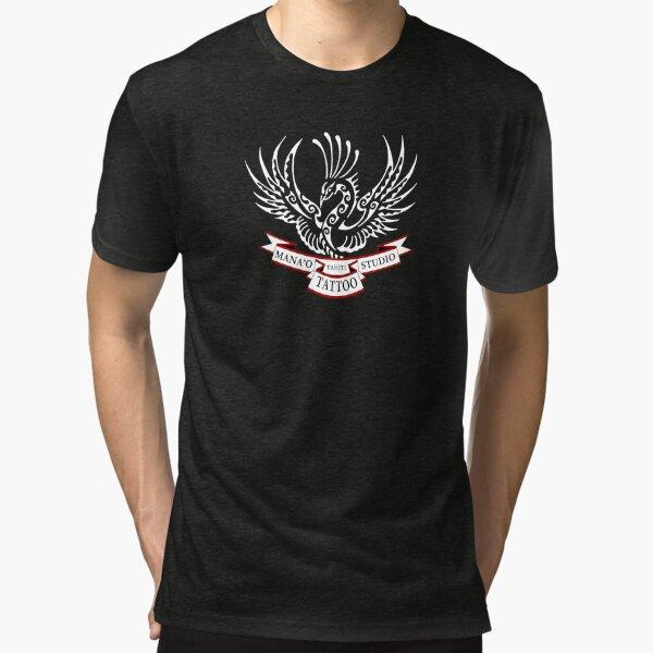 Mana'o Tattoo Studio Tahiti RISING PHOENIX T-shirt chiné