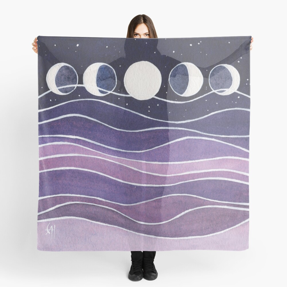 Purple Mountains and Moon Scarf