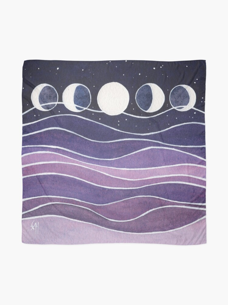 Alternate view of Purple Mountains and Moon Scarf