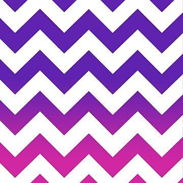 Purple Pink Ombré Chevron  by AmazingAngela