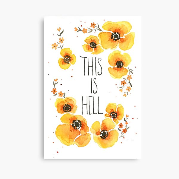 This is Hell Canvas Print