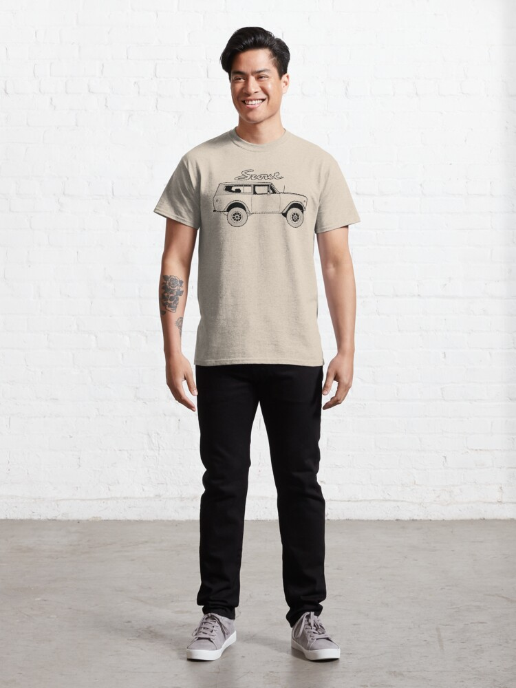 Alternate view of International Scout II Harvester Classic Vintage 4x4 Truck Offroad Vehicle Classic T-Shirt