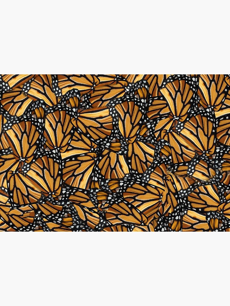 Monarch Butterfly Wing Mosaic Pattern by RootSquare