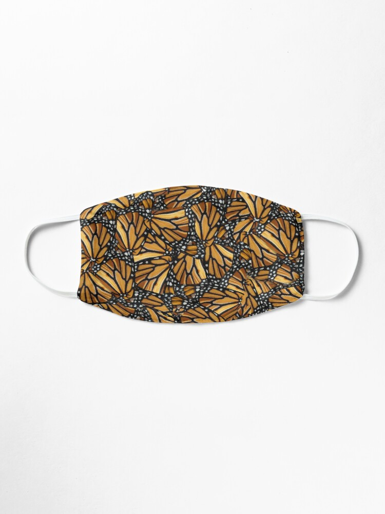 Alternate view of Monarch Butterfly Wing Mosaic Pattern Mask