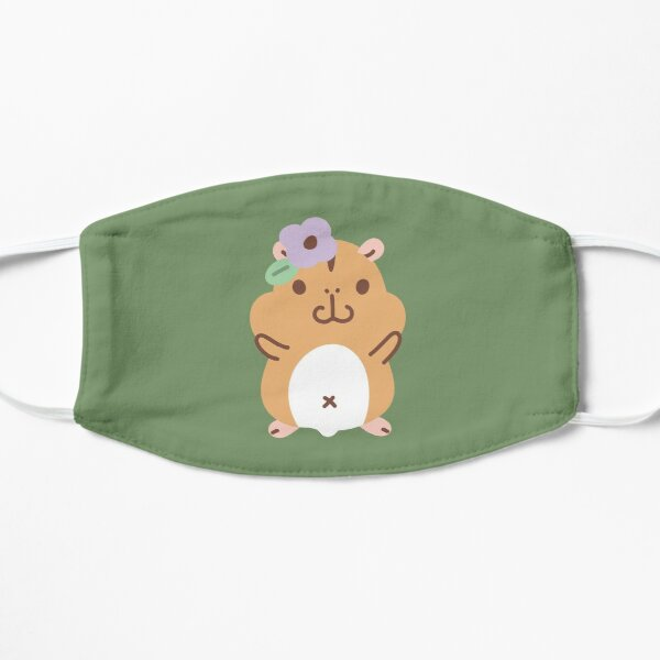 Hamsters and flowers Pattern  Mask