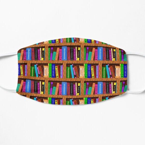 Library Bookshelf Background Pattern for Readers Mask